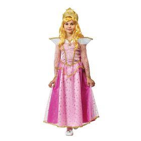 Карнавальный костюм 'Принцесса Аврора', текстиль,  р.28, рост 110 см Ош