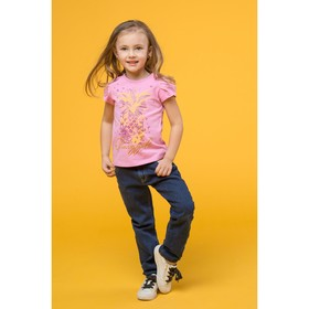 Джинсы для девочки 'ROVELLO', рост 98 см, цвет синий 4052 С Ош