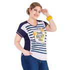 Блуза женская 17-y22, размер 68, цвет синий
