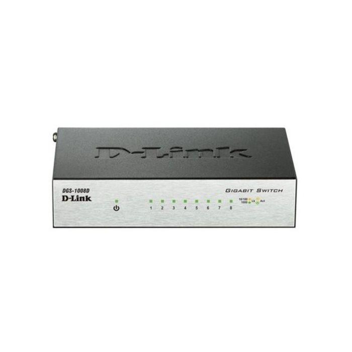 Коммутатор D-Link DGS-1008D/J2A неуправляемый настольный 8x10/100/1000BASE-T