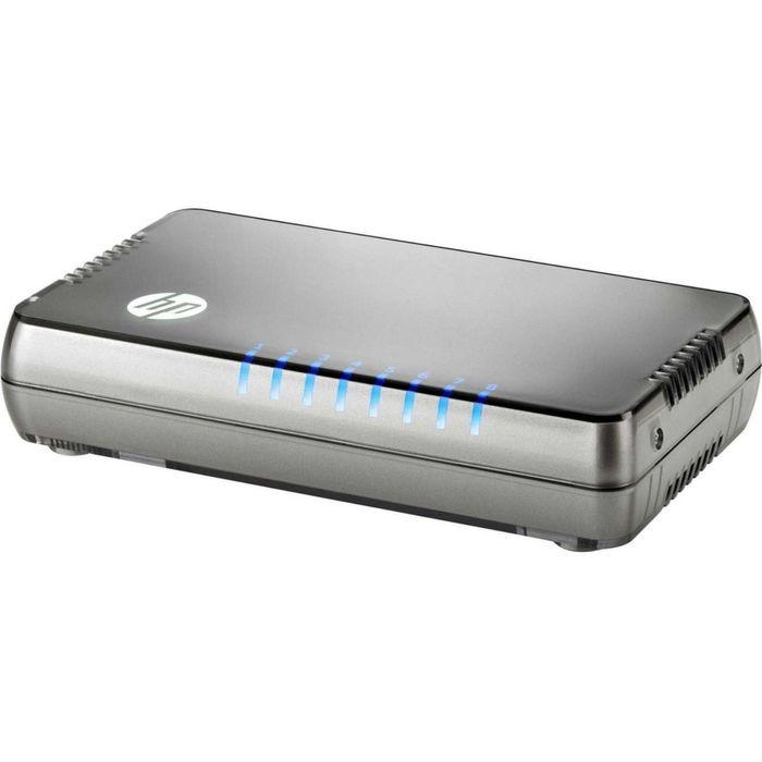 Коммутатор HPE 1405 8G v3 JH408A неуправляемый настольный 8x10/100/1000BASE-T