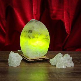 Соляной светильник 'Листик' малый ,13 х 8 х 6 см, цветной, цельный кристалл Ош