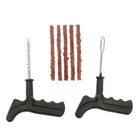 Комплект для ремонта бескамерных шин, инструмент, жгуты