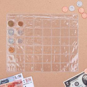 Лист для монет, 48 ячеек, 20 х 25 см