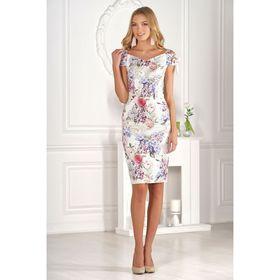 Платье женское, размер 46, рост 170 см, разноцветное
