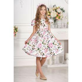 Платье для девочки, размер 28, рост 98 см, разноцветное