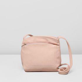 Сумка женская на молнии, 1 отдел, 2 наружных кармана, регулируемый ремень, цвет розовый