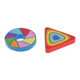Ластик из синтетического каучука Rainbow, фигурный, многоцветный, микс Ош
