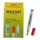 Маркер перманентный 2.0 мм MAZARi Action М-5007 красный