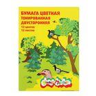 """Бумага цветная двусторонняя А4, 12 листов, 12 цветов """"Каляка-Маляка"""""""