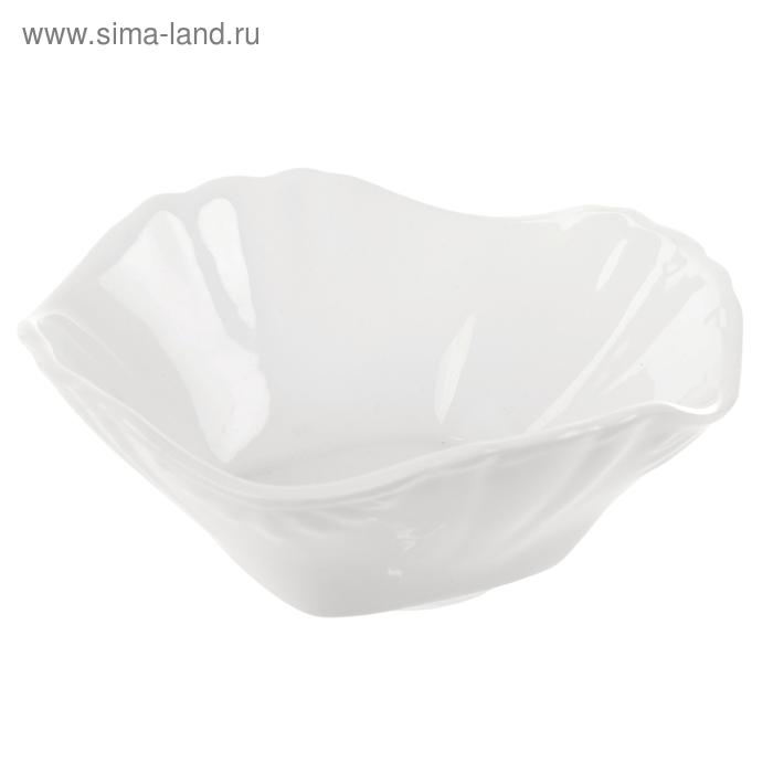 Салатник 350 мл, 16,5х16,5х6,3 см, цвет белый