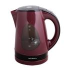 Чайник электрический Supra KES 1708, 2200 Вт, 1.7 л., бордовый
