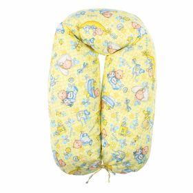 Подушка для беременных 30*190 бязь, на молнии, эко гранулы, сумка, Карапуз Ош