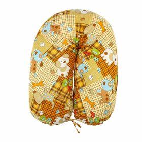 Подушка для беременных 34*127 бязь, на молнии, файбер, сумка, Тузик Ош