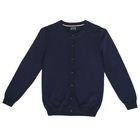 Джемпер для девочки, рост 128 см, цвет синий меланж ZG 34055-B