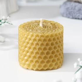 Свеча из вощины медовая 4 см  с маслом Гвоздика, репелентная Ош