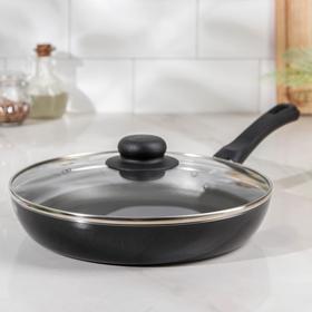 Сковорода 24 см Promo, стеклянная крышка