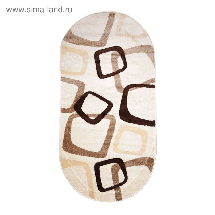 Ковёр FREEZE Carving 6239 OPAK 1.5*4.0 м, овал