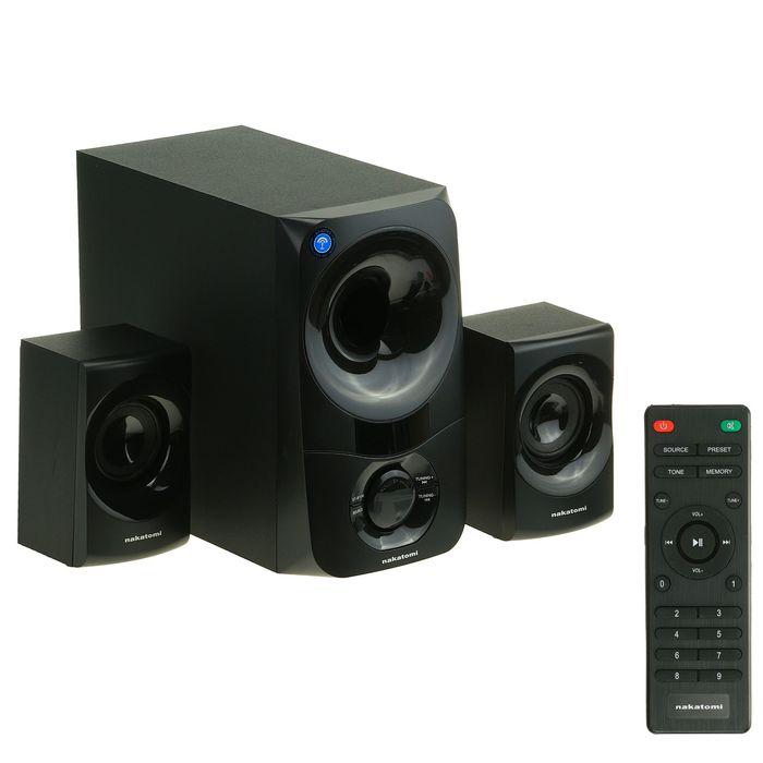 Акустическая система 2.1 Nakatomi GS-35, 2х15Вт+30Вт, MP3, FM, Bluetooth, 220В, черные