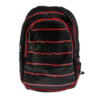 Рюкзак молодежный эргономичная спинка Hatber 42*30*20 Street «Линия руки», чёрный/красный NRk_17092