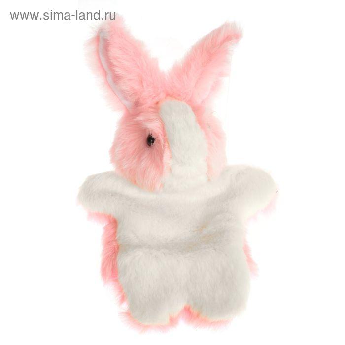 """Мягкая игрушка на руку """"Заяц"""", цвет розовый"""