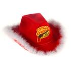 """Шляпа ковбойская """"Стреляю лучше, чем готовлю"""", р-р. 56-58, цвет красный"""