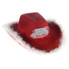 """Шляпа ковбойская """"Ты мне нравишься"""", р-р. 56-58, цвет красный"""