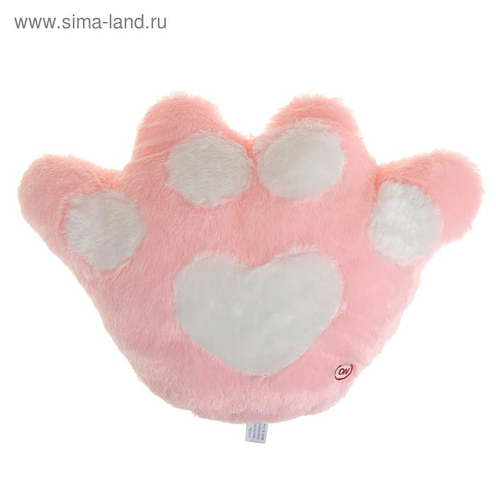 "Мягкая игрушка-подушка световая ""Лапка"", цвет розовый"