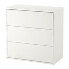 Шкаф с 3 ящиками ЭКЕТ, 70х35х70 см, белый