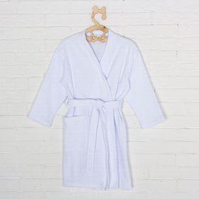 Халат махровый для девочки, рост 104 см, цвет белый 09811-19