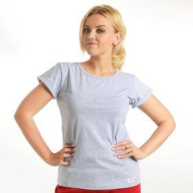 Футболка женская KAFTAN, цвет меланж, размер XS(42), хлопок 100%