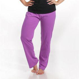 """Брюки женские KAFTAN """"Панда"""", цвет сиреневый, размер XL(50), хлопок 100%"""