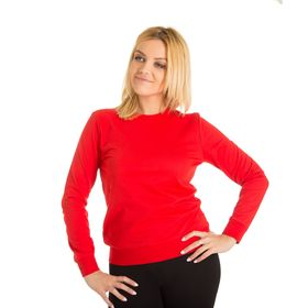 Толстовка женская KAFTAN basic, цвет красный, размер XS(42), хлопок 100%