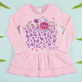 """Платье для девочки KAFTAN """"Модница"""" (П1), рост 98-104 (30), 3-4 года, цвет розовый, хлопок 100%"""