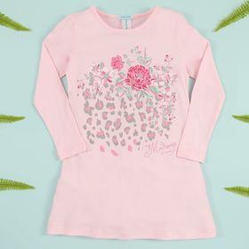 """Платье-туника KAFTAN """"Цветы"""" (П2), рост 110-116 (32), 5-6 лет, цвет розовый, 100% хлопок"""