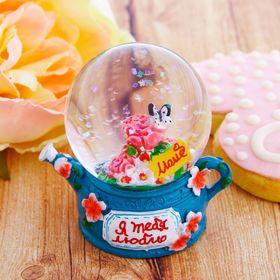 "Сувенир снежный шар ""Я тебя люблю"", d=4,5 см"