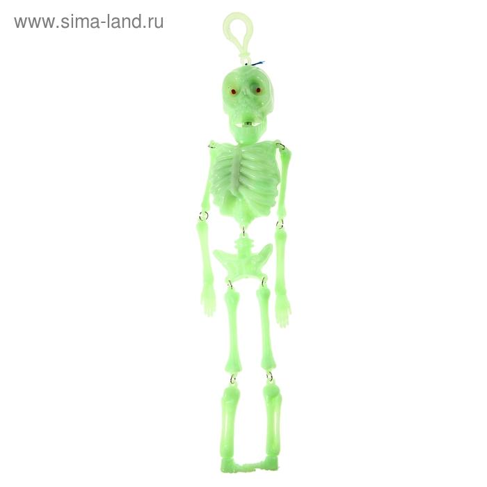 Скелет светоотражающий, челюсть трясётся