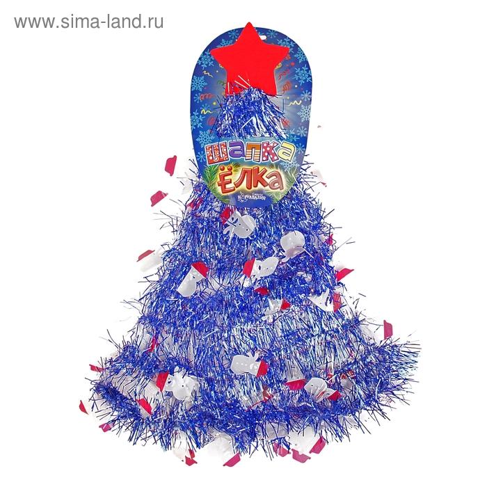 """Карнавальная шляпа """"Ёлочка"""" со снеговиками"""