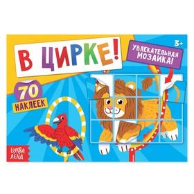 """Книга с наклейками """"В цирке!"""", 12 страниц"""