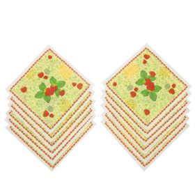 Платки носовые детские Этель Земляника (набор 12 шт), 100% хл