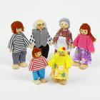Набор деревянных кукол, семья, 6 шт.