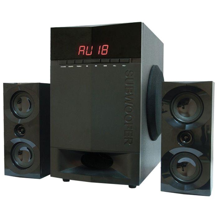 Акустическая система 2.1 Dialog AP-230, 2х15Вт+35Вт, MP3,FM,Bluetooth,пульт ДУ,220В,черные