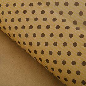 Бумага упаковочная крафт 'Коричневый горох' 70 х 100 см Ош