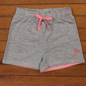 Шорты для девочки, рост 80 см, цвет серый меланж CSB 7584_М