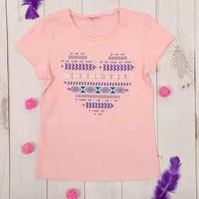 Футболка для девочки, рост 122 см, цвет светло-розовый CSK 61623