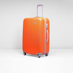 Чемодан большой, 28', 4 колеса, кодовый замок, цвет оранжевый Ош