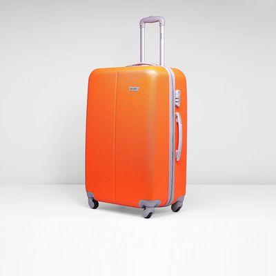 """Чемодан большой, 28"""", 4 колеса, кодовый замок, цвет оранжевый"""