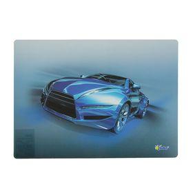 Накладка на стол дизайнерская Sport car синий, для мальчика 337 х 242 мм, КН 4-1 Ош