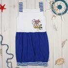 """Платье для девочки """"Бона"""", рост 98-104 см, цвет синий, принт якорь 1025"""