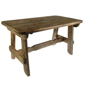 """Стол """"Разбойник""""120 см, сосна брашированная, состаренная"""